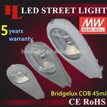 2015 High power Bridgelux COB Mean Well(MW) Driver 30W IP65 LED Street light Shenzhen factory