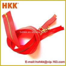 4# High quality gold zipper woman clothing
