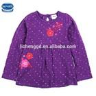 (H3591)Purple 2-6Y Nova factory kids clothing flower girls dress designs baby girl korea style spot print spring autumn dress