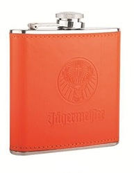 stainless steel mini hip flask with leather cover