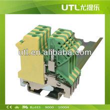 new 2015 UTILITY JUT1-2.5 PE Green/Yellow ceramic terminal block
