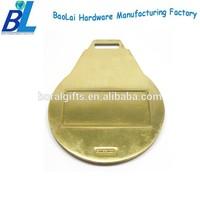 Laser engravable metal blank golf luggage tags