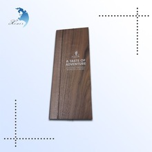 OEM design accepted dark wood color plate with silkscreen printing letters