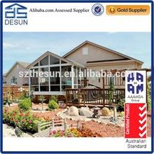 European style gable roof aluminum profile sunroom