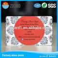 のクレジットカードサイズの粘着性のポリ塩化ビニールステッカープラスチックカードカード