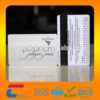 High quality Plastic pvc Golf club membership card with loco magnetic strip Shenzhen China manufacturer