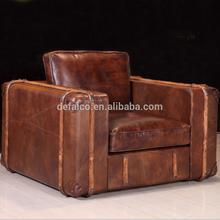 Retro Old Steamer Vintage Leather Sofa Set