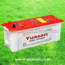 Hot Sale Yuasan JIS Lead Acid Automobile Battery 12V Dry Cell Battery for Cars -N120(12V120AH)