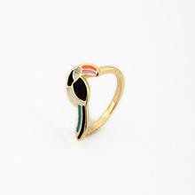 Factory Direct Sale Women Lovely Bird Gold Fancy Ring Design