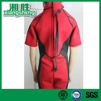 Red and Black Zipper Jumpsuits Surf Wetsuit