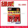 Pegajosa de gran alcance de ratón o cola de rata trampa, tablas de pegamento, pegamento sl-1001 catcher
