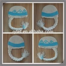 Wholesale baby knitting caps,frozen elsa crochet hats,handmade knitting frozen elsa hat