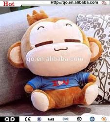 Top sale lovely stuffed plush soft toy monkey