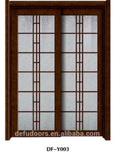 interior glass door/black walnut wooden door /aluminum door