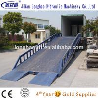 Mobile auto hydraulic dock ramp for sale/car yard ramp