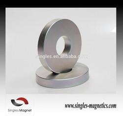 China supplier strong neodymium large speaker magnet radial ring neodymium magnet