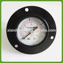 black steel gas pressure gauge manometer bourdon tube type