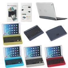 Wireless Aluminium Bluetooth Keyboard Case for iPad Mini 1 2 3