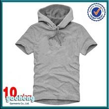 newest fashion men plain t-shirt with hood men t shirt brand t-shirt manila supplier printing or emboridery