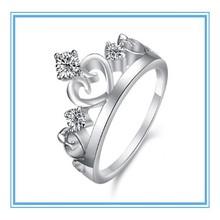 High quality fashion design hot sale Supreme exquisite diamond crown ring