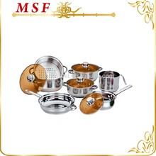 Milk pot saucepan saucepot frypan perfect combination for family kitchen 11pcs satinless steel cookware set MSF-L3302