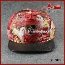 Leather Skin Flat Brim Sports Caps Hater Cotton Nylon Snapback Hats