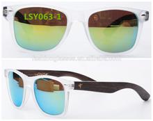 2015 high quality polarized wood bamboo sunglasses with CE&FDA UV400