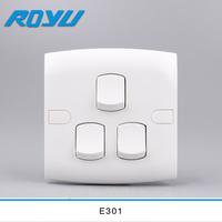 E301 3 gang switch 16A 2 way PC