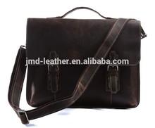 New Arrival Goods J.M.D Brand Vintage Genuine Leather Dark Brown Briefcase Bags 7035R