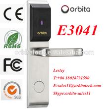 Orbita newest RFID card hotel door locks stainless steel door handle gate designs