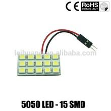 auto Panel LED 15 SMD 5050 LED Car Interior Dome Reading Light Bulbs Lamp