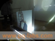 rear projection film with interactive