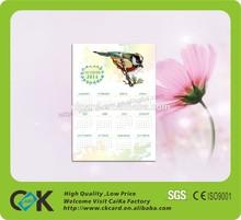 wholesale pvc 2015 calendar card