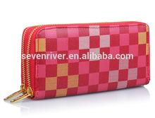 new arrive cutch double zipper wallet for women