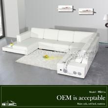 611# living room soft comfortable sofa set with hifi u-shaped contemporary sofa