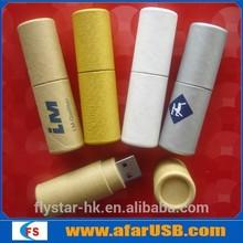 Recycle paper usb flashdrive with custom logo,popular USB flash drive,wooden usb
