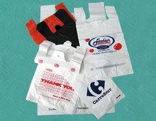 Plastic custom design shopping bag t-shirt bag made in China