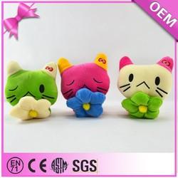 Promotion gift high quality handmade mini stuffed cartoon cat wholesale cat toys
