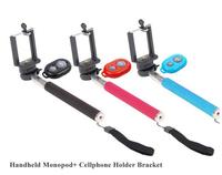 Mobile Phone Monopod Telescopic Selfie Stick Handheld Camera Tripod + Wireless Bluetooth Remote Control Shutter