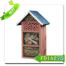 Special design insect house tall wooden insect house bird cage for sale