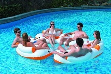 2015 new product 2 person inflatable water sofa /inflatable water park sofa