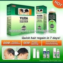 YUDA ginger hair loss liquid/hair growth lotion/facial hair growth product Real Plus factory produces