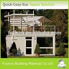 Demountable Decorated Prefabricated Steel Frame Villa