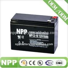 12V10AH battery supplier ups battery backup time for solar battery charging