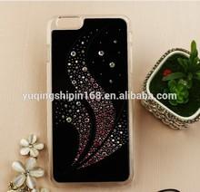 wholesale black case inserted diamond phone case for htc desire 500 506e