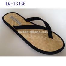 High Quality Natural Straw Flip Flops Men