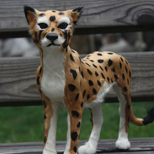 wholesale lepard large outdoor wild animal models toy