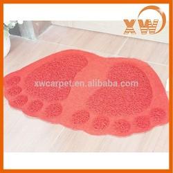 2015 popular home textile anti-slip foot shape tatami cheap door mat