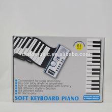 61keys flexible keyboard, musical instrument