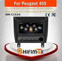 Hifimax 7'' 2 din Car radio dvd gps for PEUGEOT 405 with GPS/Bluetooth/Radio AM FM/Steering wheel control